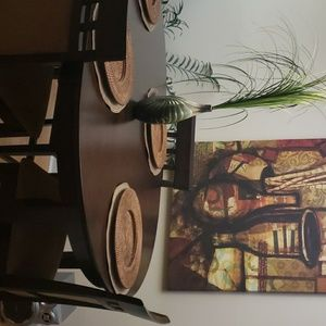 Dining room table with wall picture!
